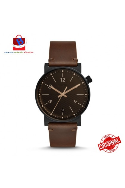 Fossil Men's FS5552 BARSTOW Three-Hand Date Brown Leather Watch