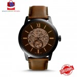 Fossil Men's ME3155 Townsman 48MM Automatic Brown Leather Watch