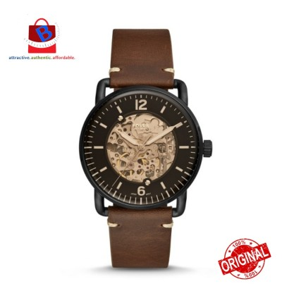 Fossil Men's ME3158 Commuter Automatic Brown Leather Watch