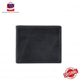 Fossil Men's Derrick Rfid Flip Id Bifold Leather Wallet Midnight Navy ML3681406