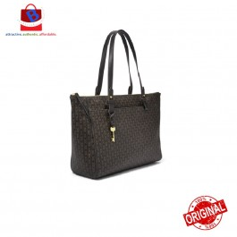 Fossil Women's Rachel Tote Black/Brown ZB7725015