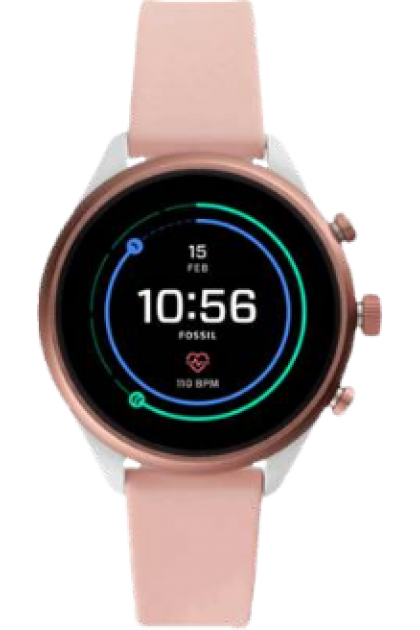 Fossil FTW6022 Sport Smartwatch - Blush Silicone