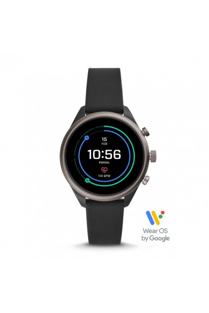 Fossil FTW6024 Sport Smartwatch - 41mm Black Silicone