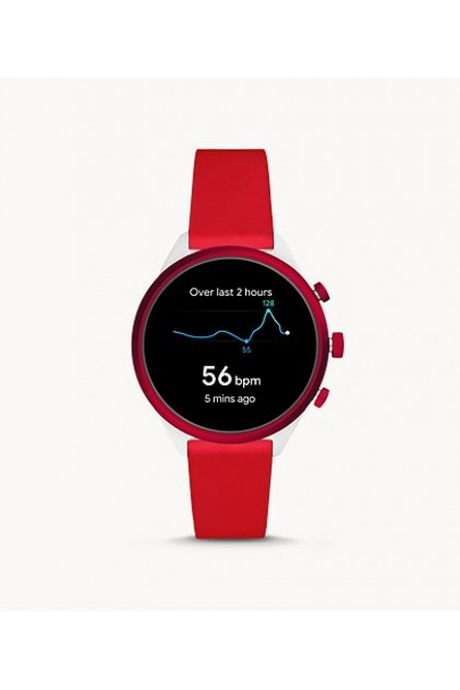 Fossil FTW6052 Fossil Sport Smartwatch 41mm Red Silicone