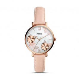 Fossil ES4671 Jacqueline Three-Hand Blush Leather Watch