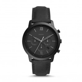 Fossil FS5503 Neutra Chronograph Black Leather Watch
