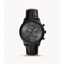 Fossil FS5579 Neutra Chronograph Brown Leather Watch