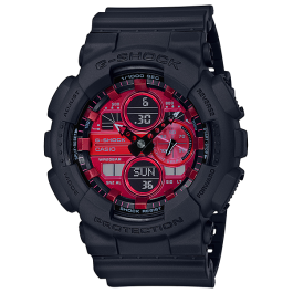 Casio G-Shock Analog-Digital GA-140AR-1A Adrenalin Red Series Original GA-140 / GA-140AR / GA-140AR-1