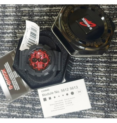 Casio G-Shock Analog-Digital GA-140AR-1A Adrenalin Red Series Original GA-140 / GA-140AR / GA-140AR-1