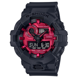 Casio G-Shock GA-700AR-1A Adrenaline Red Series Original Watch GA-700AR / GA-700AR-1 / GA-700 / 700