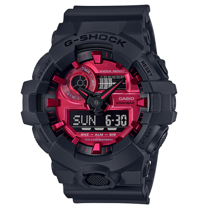 Casio G-Shock GA-700AR-1A Adrenaline Red Series Original Watch GA-700AR / GA-700AR-1 / GA-700 / 700