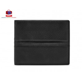 Fossil Men's Roger Flip ID Bifold Black Wallet ML4049001