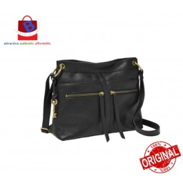 Fossil Women's Caitlyn Leather Crossbody Handbag Black ZB7968001