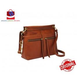 Fossil Women's Caitlyn Leather Crossbody Handbag Brown ZB7968213