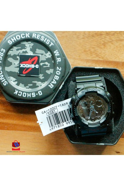 Casio G-Shock GA-100CF-1ADR Special Color Models Watch GA-100CF-1AD / GA-100CF-1A / GA-100CF-1 / GA100CF