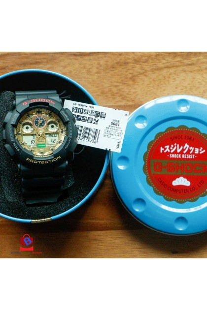 (JAPAN SET) Casio G-Shock GA-100TMN-1AJR Limited Models Beckoning Cat Watch GA-100TMN-1AJ / GA-100TMN-1A / GA-100TMN-1 / GA100TMN
