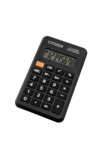 Citizen Office LC310NR Pocket Calculator Black Display LC-310NR /LC-310N/LC-310