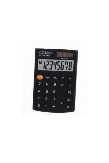 Citizen Office SLD-200NR Pocket Calculator Black Display SLD-200N/SLD-200/SLD