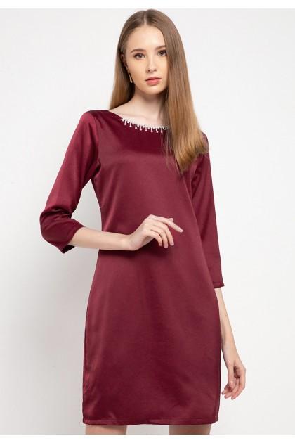 Sophistix Della Dress In Maroon