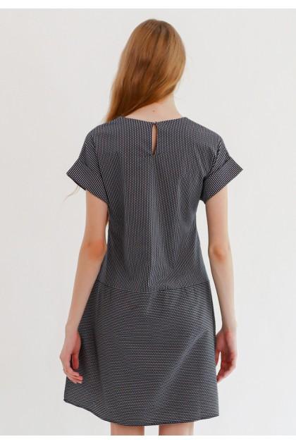 Sophistix Livia Dress In Black White Stripes