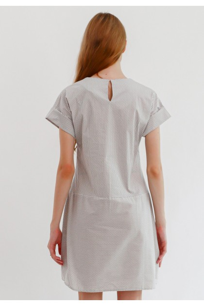 Sophistix Livia Dress In White Black Stripes