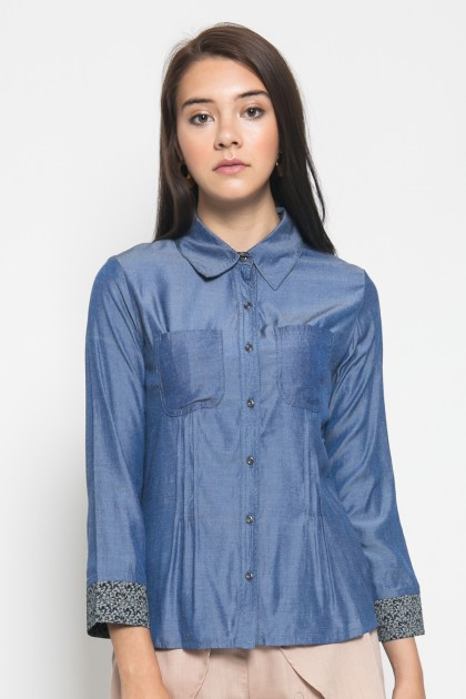 Sophistix Manya Shirt in Blue Print