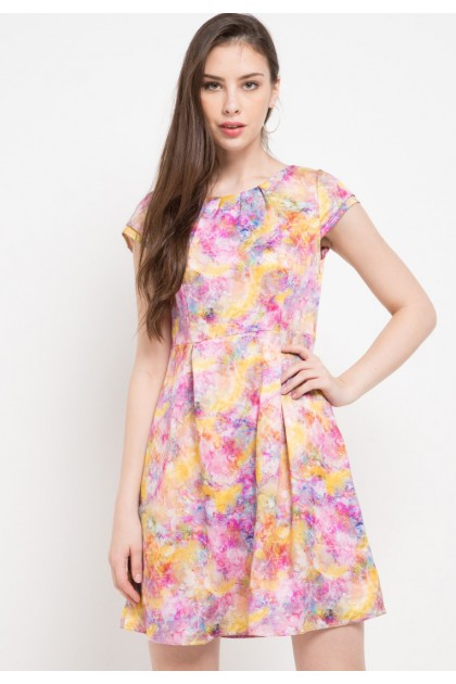 Sophistix Delia Dress In Pink Print
