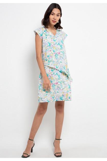 Sophistix Rosie Dress In Green Print