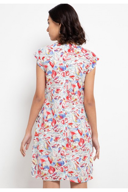 Sophistix Rosie Dress In Red Print