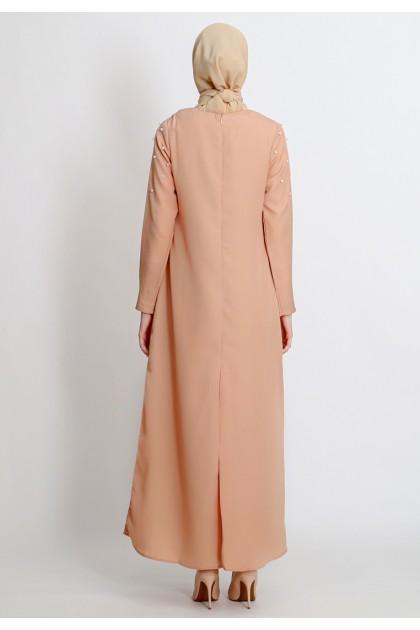 Azzar Aboli Maxi Dress In Beige