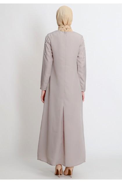Azzar Aboli Maxi Dress In Grey