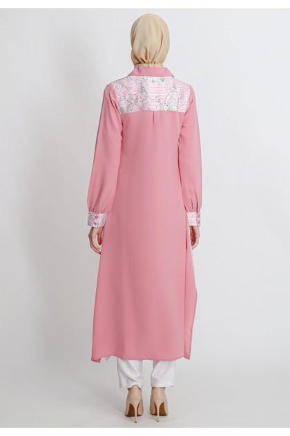 Azzar Helga Maxi Dress in Pink