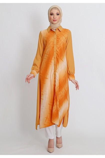 Azzar Jackie Maxi Dress in Dark Orange