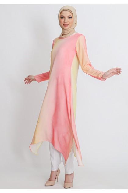 Azzar Jaya Maxi Dress in Pink