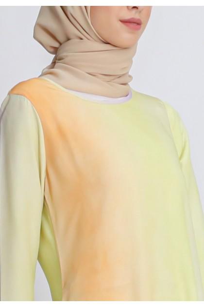 Azzar Jaya Maxi Dress in Yellow