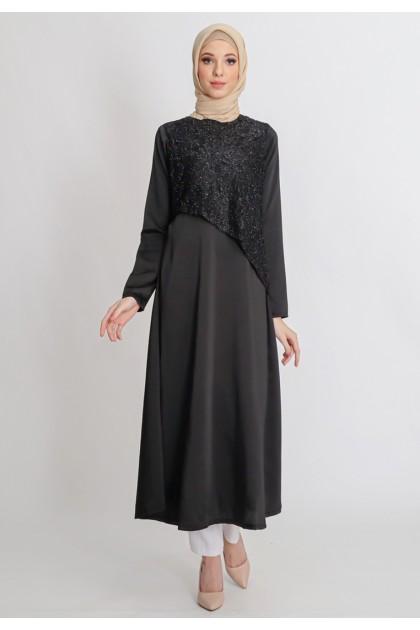 Azzar Jayla Maxi Dress With Black Lace