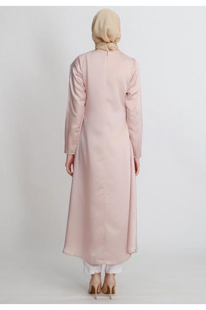 Azzar Jayla Maxi Dress With Peach Lace