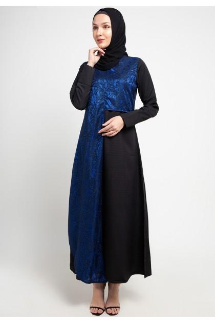 Azzar Jini Maxi Dress In Blue Black