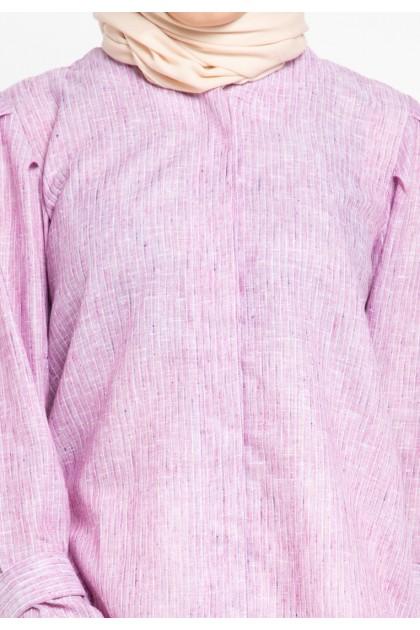 Azzar Kaya Blouse In Pink Stripes