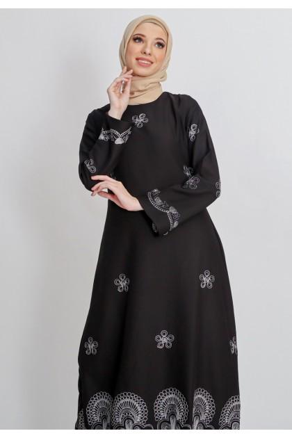 Azzar Ketki Maxi Dress In Black And Silver