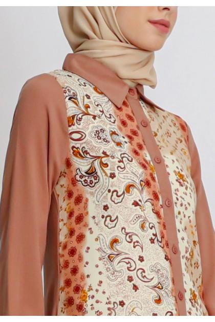 Azzar Leah Maxi Dress in Brown