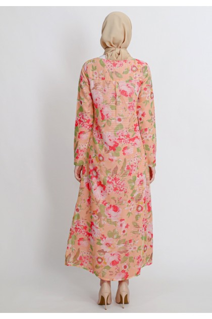 Azzar Meera Maxi Dress in Yellow Floral