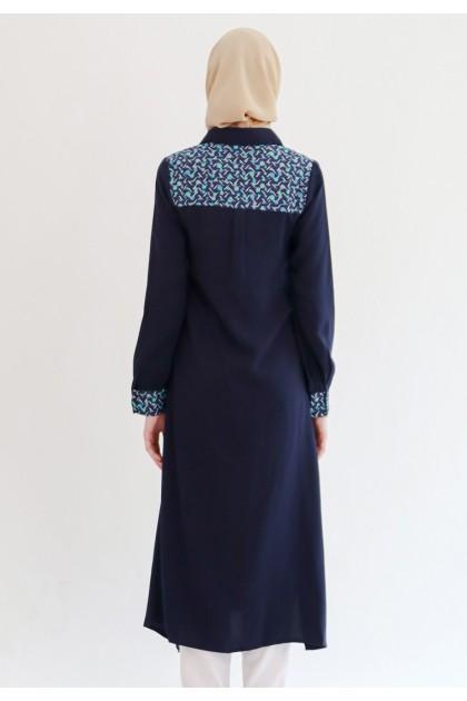 Azzar Midge Maxi Dress in Navy