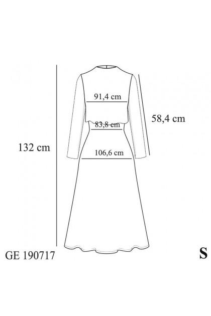 Azzar Nane Maxi Dress In Grey
