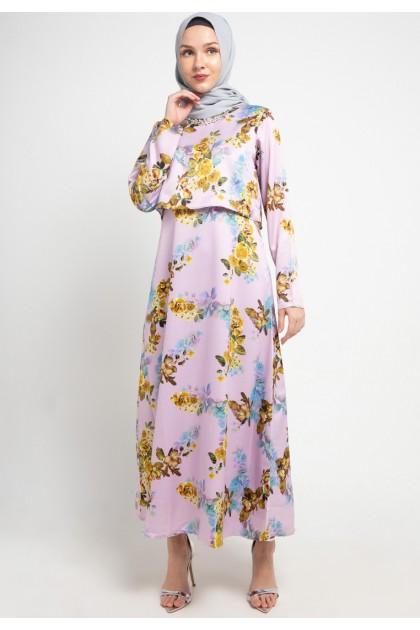 Azzar Nane Maxi Dress In Lavender