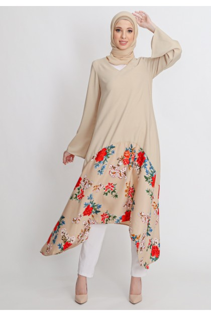Azzar Nelly Maxi Dress in Light Brown