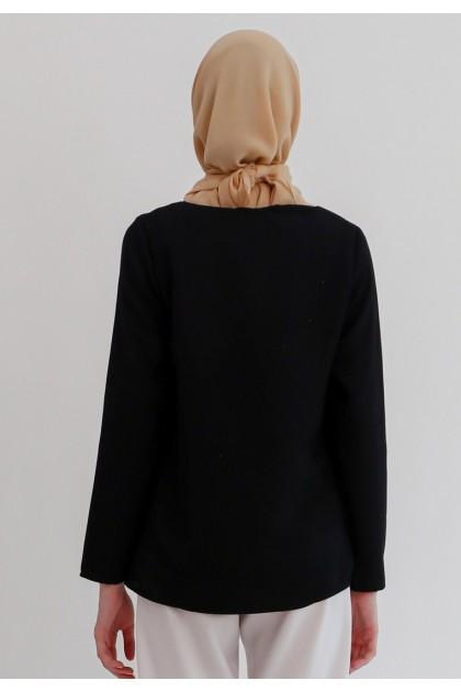 Azzar Nimah Blouse In Black
