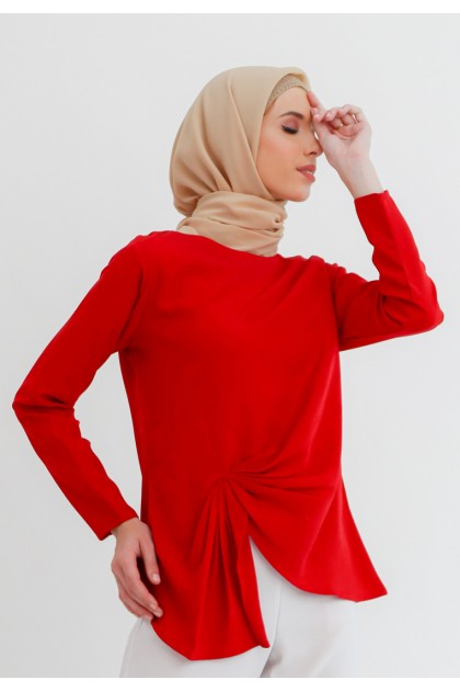 Azzar Nimah Blouse In Red