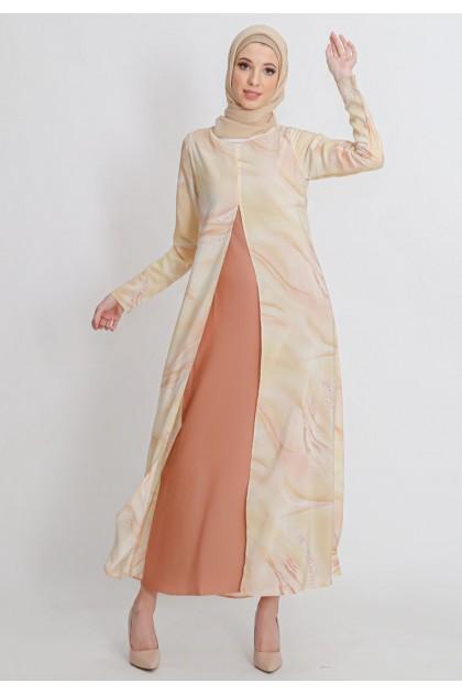 Azzar Poppy Maxi Dress in Beige