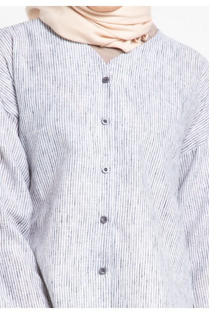 Azzar Remi Blouse In Black Stripes